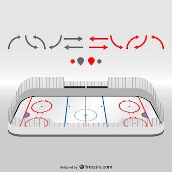 Hockeyfeld vektor-design