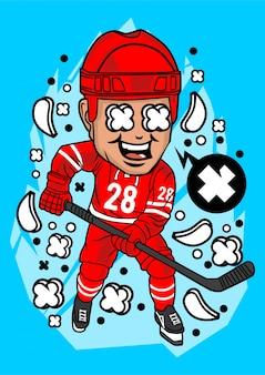 Hockeyspieler charakter