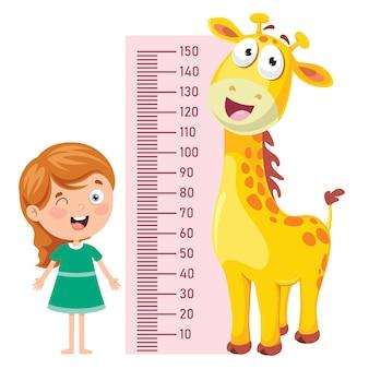 Höhenmaß für kleine kinder