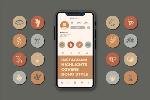 Höhepunkte der instagram-geschichten