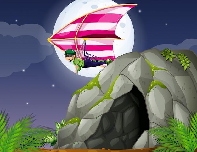 Höhle und drachenfliegen