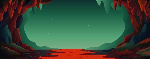 Höhle - vektor-cartoon-hintergrund