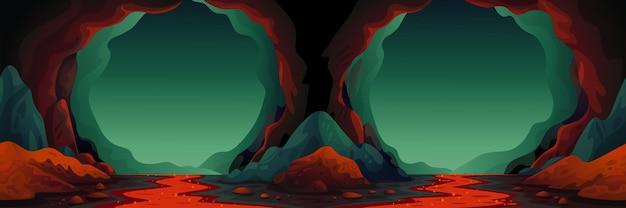 Höhlenvektor nahtloser hintergrund Premium Vektoren
