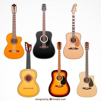 Hölzerne gitarrensammlung