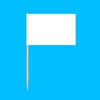 Hölzerne zahnstocherflaggenminiatur lokalisiert auf blau