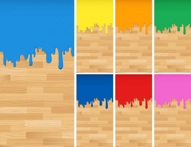 Hölzerner hintergrund mit verschiedenen farben der farben