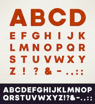 Hölzernes alphabet