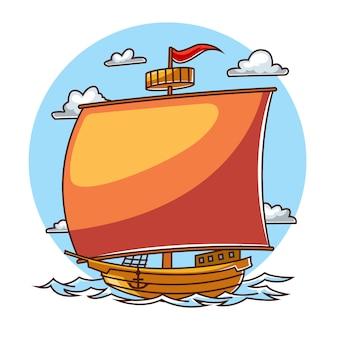 Hölzernes schiff