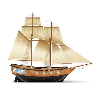Hölzernes segelschiff