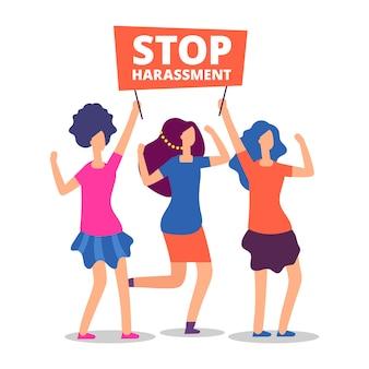 Hört auf, weibliche demonstrationen zu missbrauchen