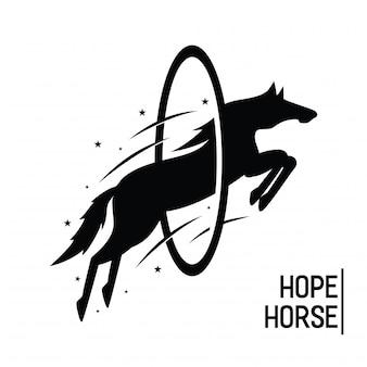 Hoffnungs-pferdeweinlese