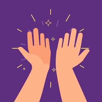Hohe fünf hände. zwei hände ergeben eine hohe fünf, großartige arbeitsleistung.