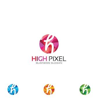 Hohes pixel-logo
