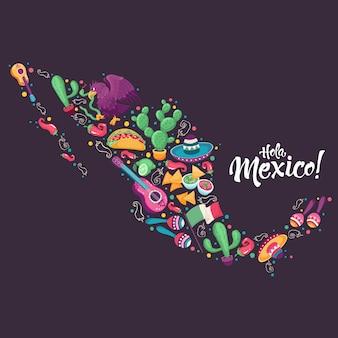 Hola mexiko plakat