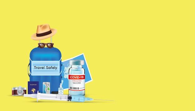 Holen sie sich einen impfstoff, bevor sie nach dem pandemischen coronavirus auf reisen gehen