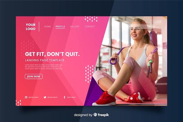 Holen sie sich fit fitness-promotion-landingpage