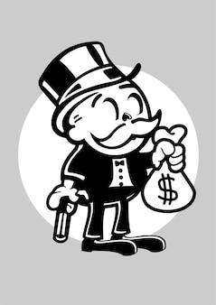 Holen sie sich geld illustration in der hand gezeichnet