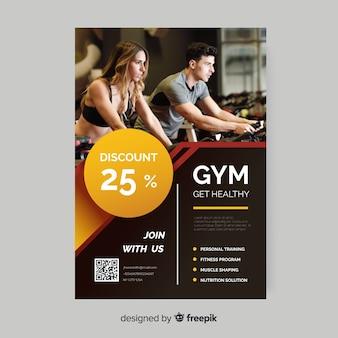 Holen sie sich gesunde sport-flyer mit foto