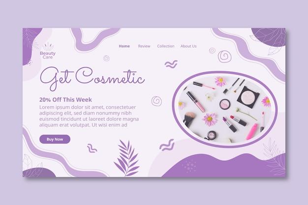 Holen sie sich kosmetische landing page design-vorlage