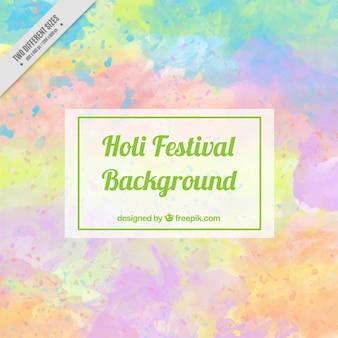 Holi-fest hintergrund in pastellfarben