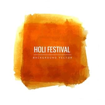 Holi-fest, orange aquarell