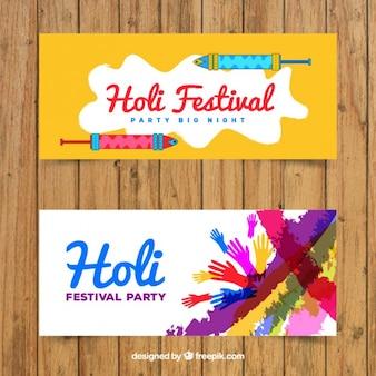 Holi-fest party banner