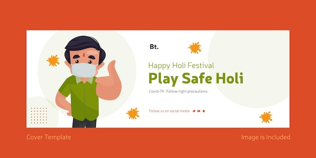 Holi festival auf nummer sicher gehen holi deckblatt design