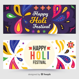 Holi festival bunte fahne