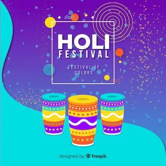 Holi festival hintergrund ethnischen trommeln