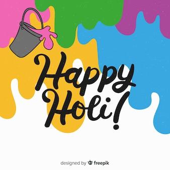 Holi festival hintergrund malen