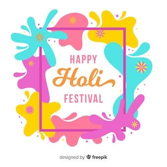 Holi festival hintergrund mit bunten flecken