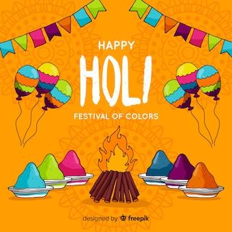Holi festival hintergrund