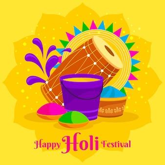 Holi festival illustration