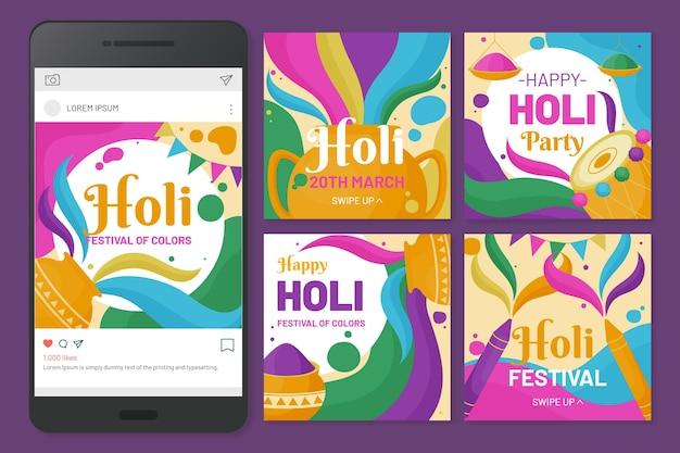 Holi festival instagram beiträge
