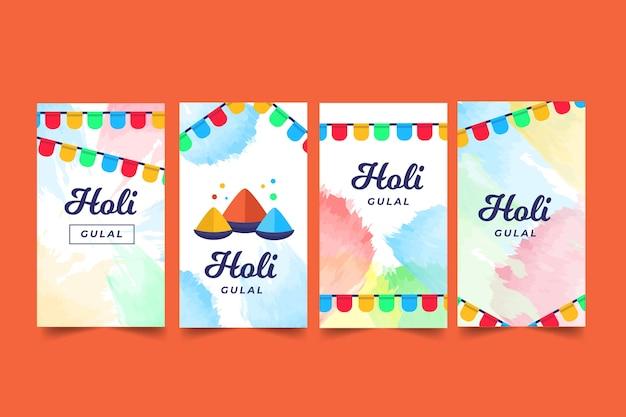 Holi festival instagram geschichten festgelegt