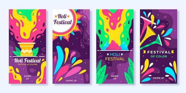 Holi festival instagram geschichten Kostenlosen Vektoren