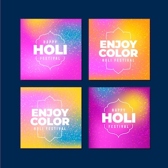 Holi festival instagram post pack