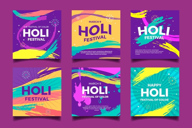 Holi festival instagram post sammlung