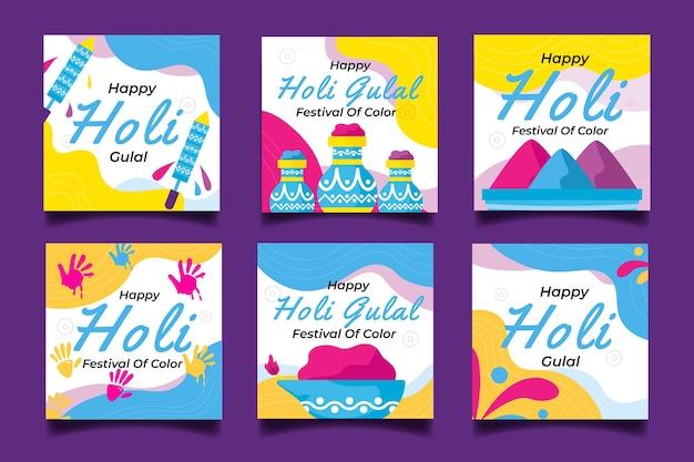 Holi festival mit instagram geschichten