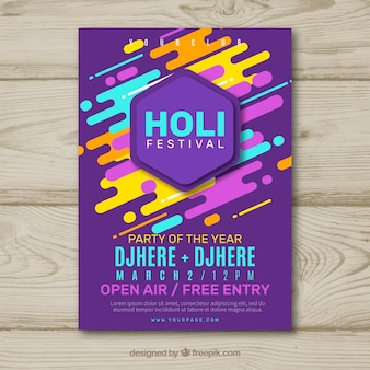 Holi Festival Party Flyer