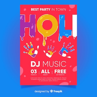 Holi festival party poster