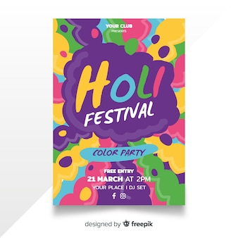 Holi festival-plakat der explosion