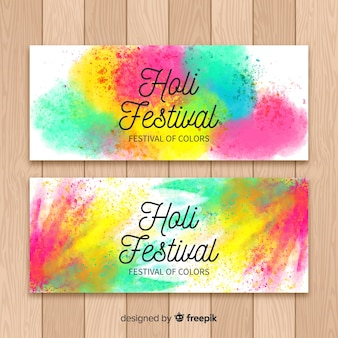 Holi festival realistische spot banner