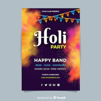 Holi festivalplakat