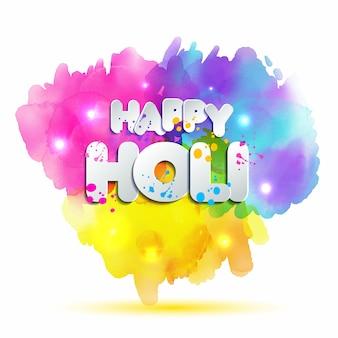 Holi-frühlingsfest von farben element und zeichen