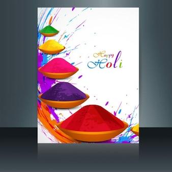 Holi ornamente bunte broschüre