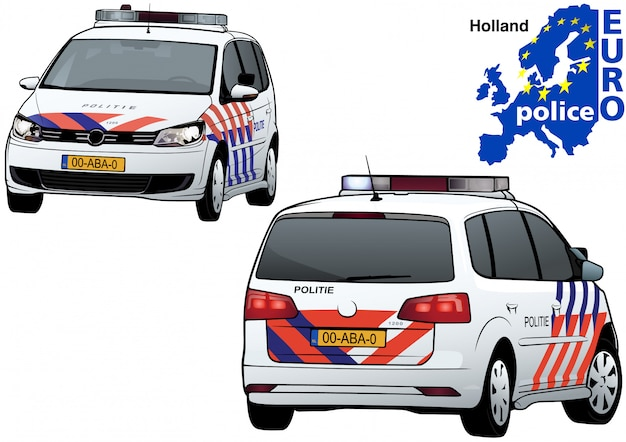 Holland polizeiauto
