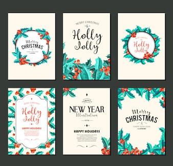 Holly Jolly - Weihnachtsfahnen eingestellt.