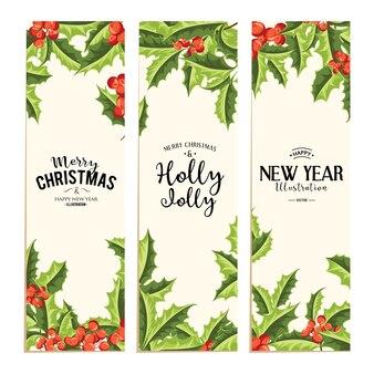 Holly jolly - weihnachtshintergrund.