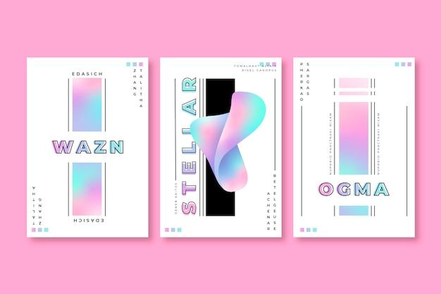 Holo-cover mit farbverlaufssammlung